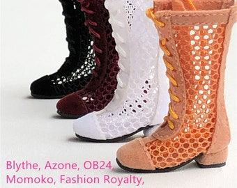 6d528e3d53e2 Doll Boots Doll Shoes Handmade Hollow Doll Boots for Blythe Doll Azone OB24  Momoko Fashion Royalty FR Mico Doll Holala Doll Boots Outfit