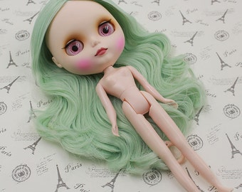 """1pc Takara 12/"""" Neo Blythe Doll RBL Scalp /& Dome Without Bang Blue hair"""