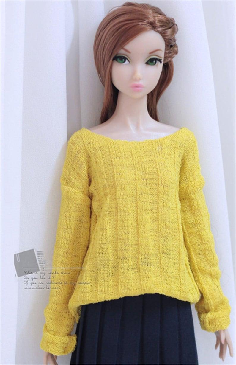 Custom Size Long Sleeve Loose Sweater For Momoko Nippon Misaki Poppyparker Fr2 Ob27 Dynamite Girls Blythe Pullip Doll Outfit Doll Accessory