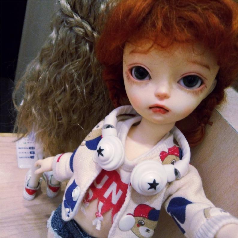 NEW DESIGN Doll Earphone Doll Headphone for Neo Blythe 1/3 BJD,Sd, 1/4 Msd,  1/6 Yosd, 1/8 Lati, 1/2 Doll Headphone Custom Accessories Outfit