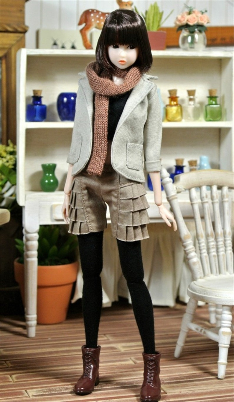 Doll Clothes Knitted Sweater Shorts For 1//6 Momoko Doll//Jenny Doll// FR Doll
