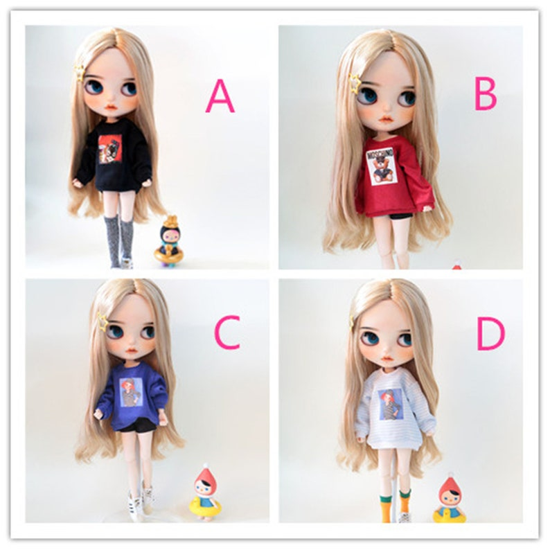 Colorful Doll Clothes Sweater For Blythe 1//6 BJD Doll Clothing Accessory