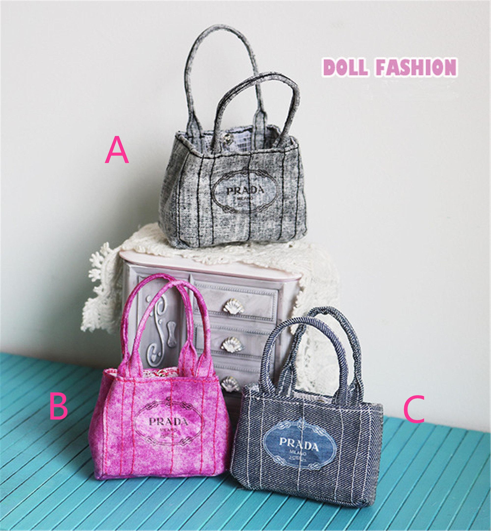 Handmade Doll Students Bag Handbag for Blythe Licca Crafts Doll Accessory