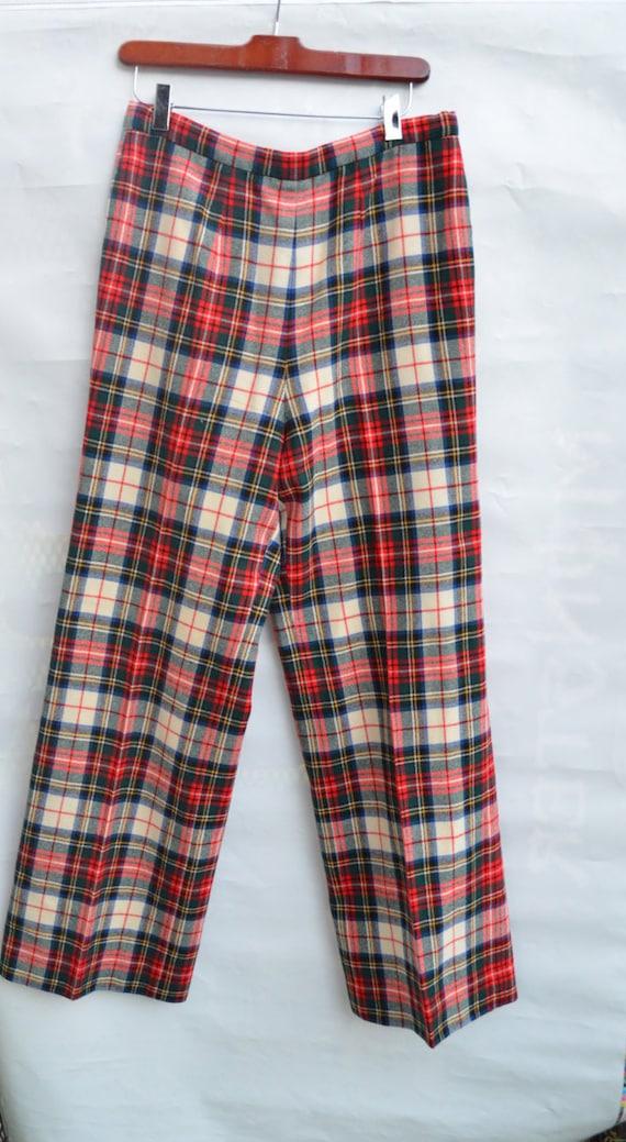 Pendleton plaid pants womens wool slacks vintage P