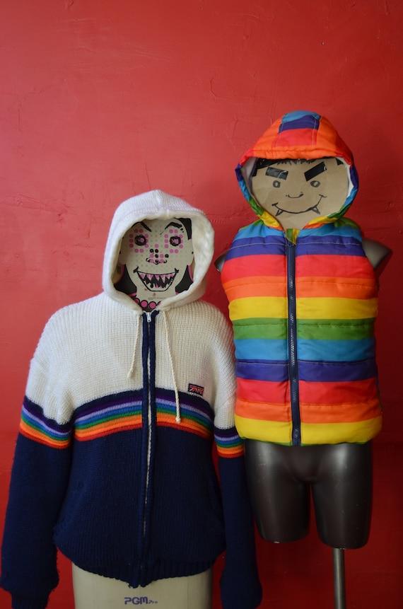 BRITTANIA vintage, rainbow jacket, knit coat. rai… - image 2