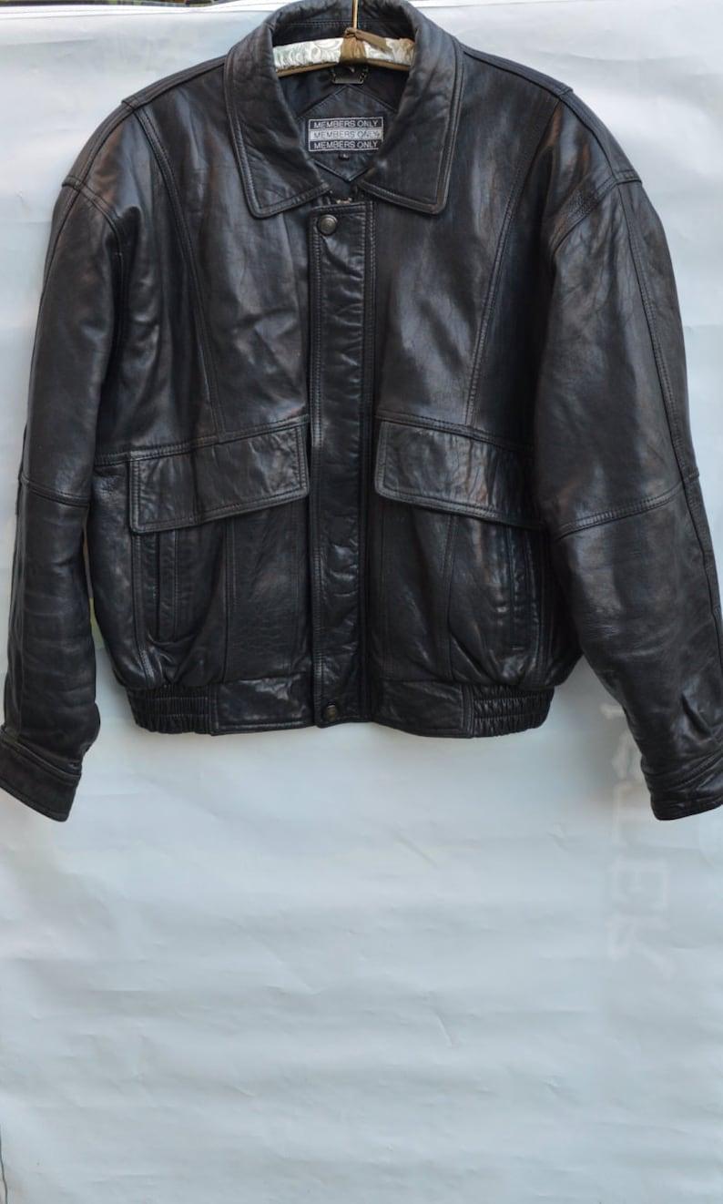 Mitglieder nur Leder Jacke Bomber Jacke retro 80er Jahre Vintage Herren Oberbekleidung Winter Mantel schwarz Leder Jacke preppy Stil Freizeitkleidung