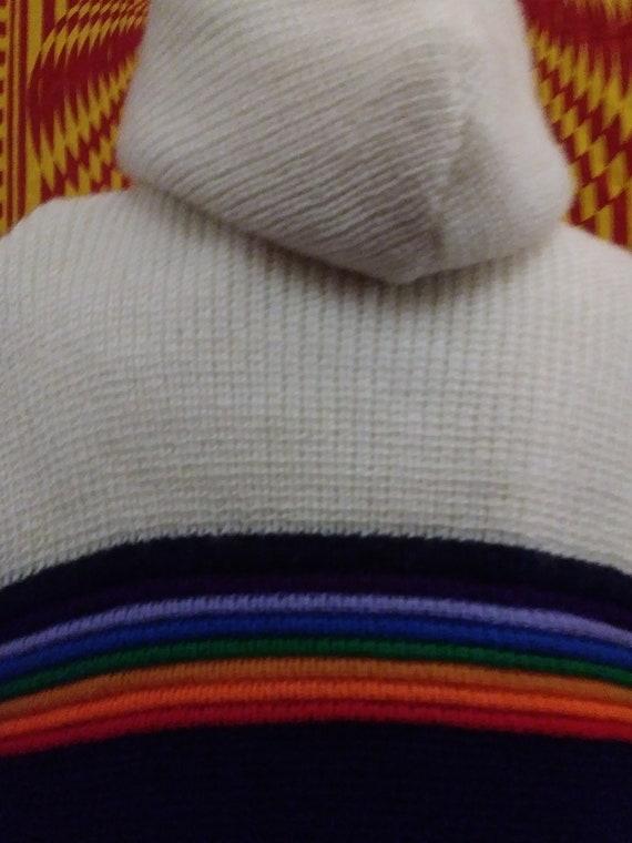 BRITTANIA vintage, rainbow jacket, knit coat. rai… - image 8