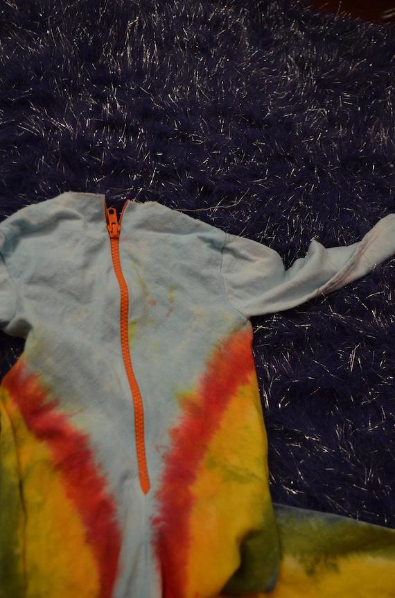 Rainbow kids, jumper romper, tie dye rainbow, dou… - image 8