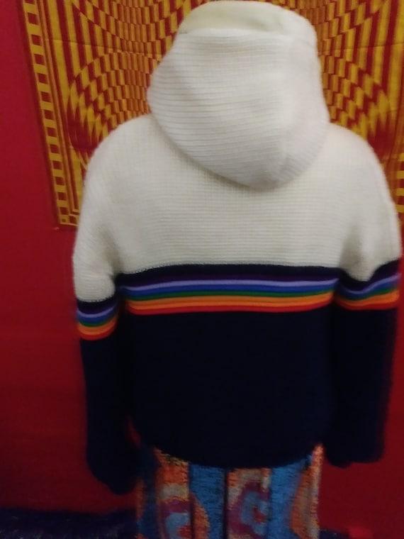 BRITTANIA vintage, rainbow jacket, knit coat. rai… - image 5