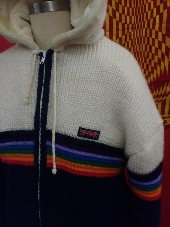 BRITTANIA vintage, rainbow jacket, knit coat. rai… - image 3
