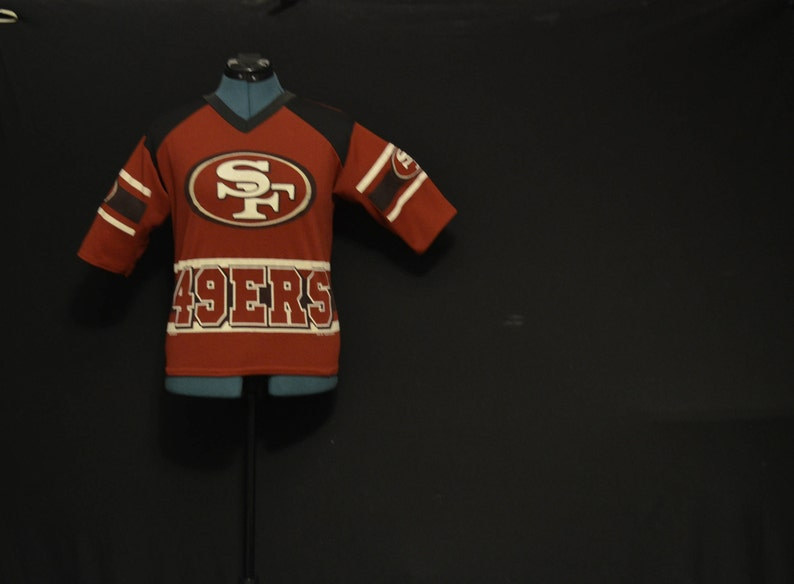 5a825c316 San Francisco 49ers Football jersey by team Glasgow vintage
