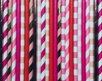 Flamingo party Paper Straws, party straws, flamingo party straws, Pink paper straws, Birthday, Children's party, wedding, baby shower, pink