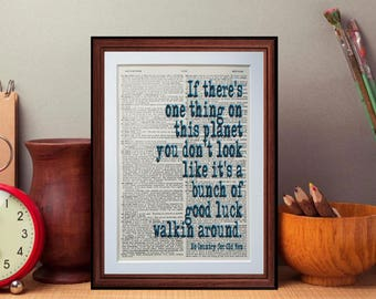 No Country for Old Men quote  - dictionary page literary art print home decor present gift home decor