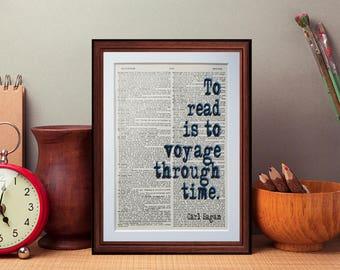 Carl Sagan quote  - dictionary page literary art print home decor present gift home decor