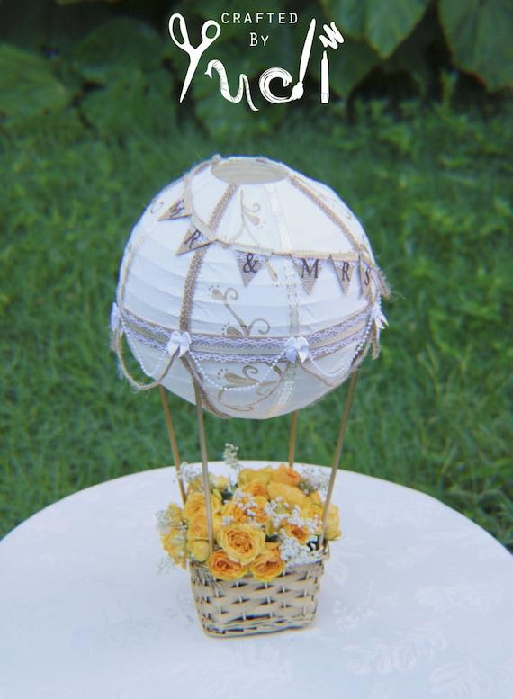 Hot Air Balloon Decoration Mrmrs Hot Air Balloon Wedding Etsy