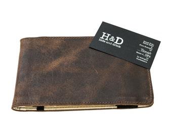 31a3ca513934 Rustic Leather Golf Performance Scorecard Holder Handmade by Hide   Drink-  Bourbon Brown