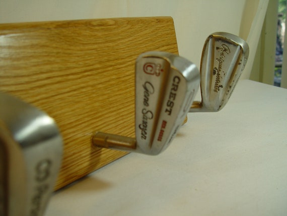 Famous Vintage Signature Irons Golf Club Hat Rack on Solid  15a872f52c90