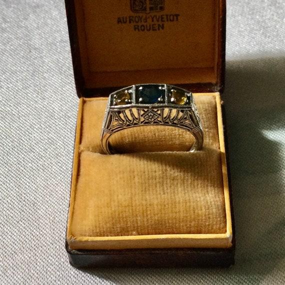 Gemstone Ring Statement Ring Large Stone Ring Vintage Jewelry Vintage Ring Vintage Citrine Ring Natural Citrine Ring