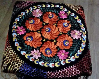 Hungarian Hand Embroidered Original Matyo doily for Chirstmas