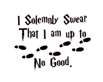 """Harry Potter /""""I Solemnly Swear That I Am Up To No Good /"""" 20/"""" x 10/"""" Wall Decal"""