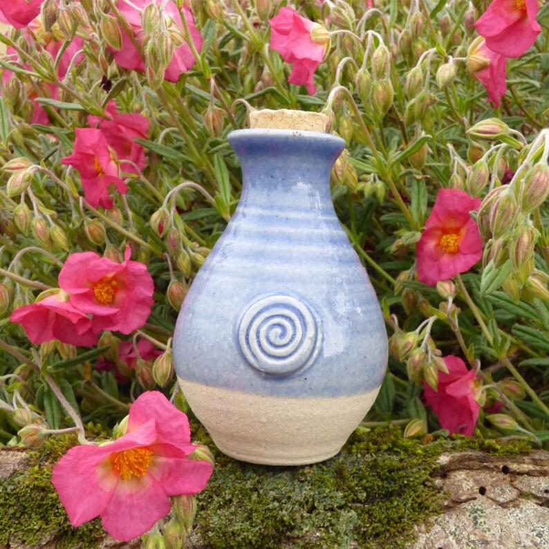 St.Brigids Well Water Goddess Ceramic Light Blue Keepsake image 0