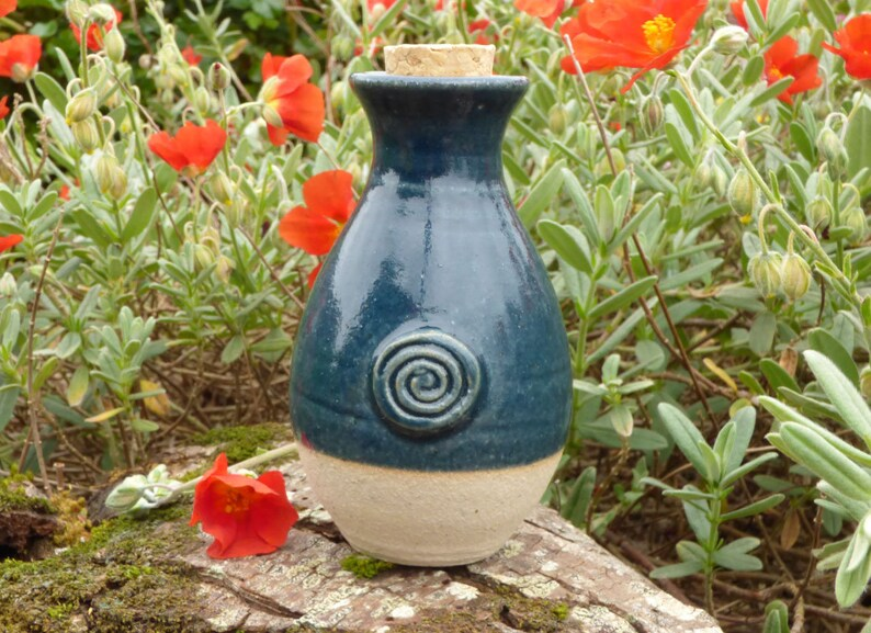 St.Brigids Well Water Goddess Ceramic DK BLUE Keepsake Unique image 0