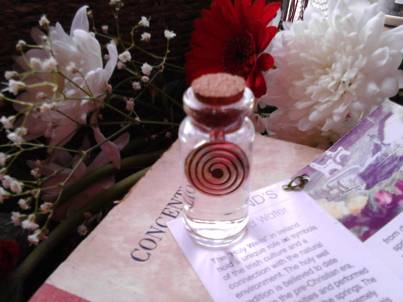 St.Brigids Well Water Goddess Glass Vial Unique Irish gift image 0