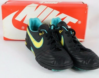 8986779ea 80s New Nike Firestar Indoor Turf Soccer Shoes Trainers Black Mens