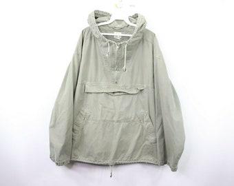 fc89c7076cc59 90s Gap Hooded Pullover Anorak Jacket Coat Green Mens XL