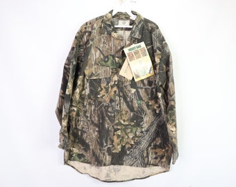 0191445e61f46 90s New Mossy Oak Fall Foliage Outdoor Hunting Chamois Shirt USA Mens XL,  90s Mossy Oak, Mossy Oak Camo, Vintage Camo Shirt, Camouflage