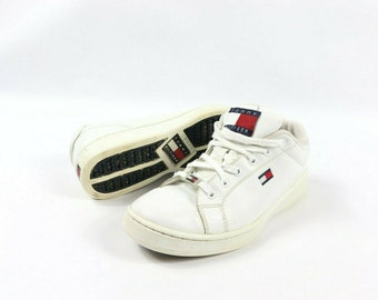 ed6ef1967847 90s Tommy Hilfiger Big Flag Logo Spell Out Lace Up Casual Sneakers Shoes  Mens Size 9