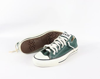 768797963a3 90s New Converse Chuck Taylor All Star Low Canvas Shoes Pine Green Mens 6  Womens 8 Made in USA