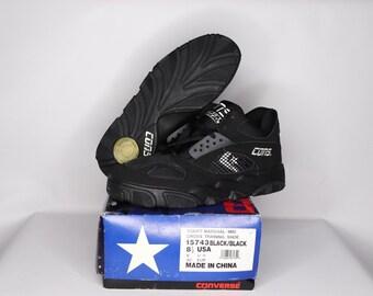 4b88b9efc6c7 90s New Converse Cons React Court Marshal Mid Basketball Shoes Mens Black  White