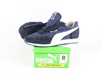 70s Puma Cyclone LE Casual Athletic Shoes Navy Blue Mens Size 8 33d48bdac