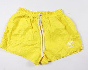 e22ba09e81 80s New Umbro Youth Spell Out Nylon Soccer Shorts Yellow USA, 80s Umbro  Shorts, 80s Umbro, 80s Soccer Shorts, Youth Umbro, Soccer Shorts