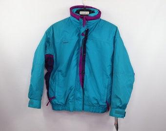 e428056ec2 90s New Columbia Bugaboo 2 In 1 Winter Parka Jacket Womens Small Sapphire  Blue