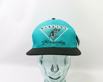 b25e8504553b6 90s Deadstock Annco Pro Model Florida Marlins Spell Out Snapback Hat