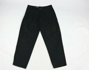 edc6ad2155 90s Marithe Francois Girbaud Spell Out Casual Chino Pants Black Mens 36x33