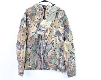 1511e8b653215 90s New Pella Full Zip Outdoor Hunting Saddlecloth Quiet Rain Mens Large  Brown Camouflage, Vintage Camouflage Jacket, Camo Jacket
