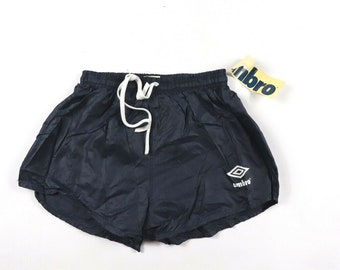 4d6dac6640 80s New Umbro Spell Out Nylon World Cup Soccer Shorts Solid Navy Blue Mens  Small, Vintage Umbro Dad Shorts, 1980s Mens Soccer Shorts, Shorts