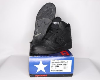 90d152bbfe7 ... get 90s new converse cons 500 classic hi leather basketball shoes black  gray mens vintage converse