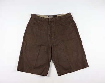 84812a0365 90s Marithe Francois Girbaud Mens Size 40 Spell Out Denim Jean Shorts  Brown, Vintage Girbaud Denim Jean Shorts, Vintage Jean Shorts, Denim