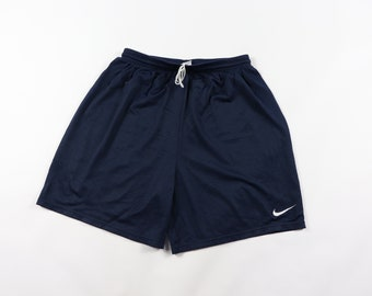 ebf77f9a239 90s Nike Swoosh Logo Athletic Mesh Basketball Gym Short Blue Mens Medium, Vintage  Nike Shorts, 1990s Mesh Shorts, 90s Shorts, 90s Nike,