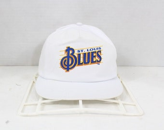 b9b83a960f91d 90s Pepsi St Louis Blues Spell Out NHL Hockey Cotton Snapback Hat Cap  White