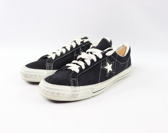 450b64b5064e 70s New Converse One Star Low Suede Sneakers Shoes Mens Size 10.5 Navy Blue  White Made In USA