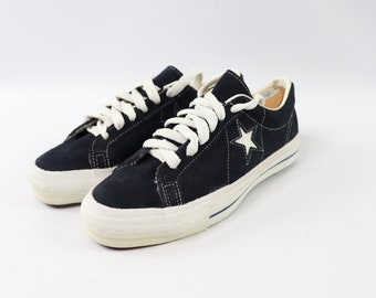 b4045dfaf18d 70s New Converse One Star Low Suede Sneakers Shoes Mens Size 8 Navy Blue  White Made In USA