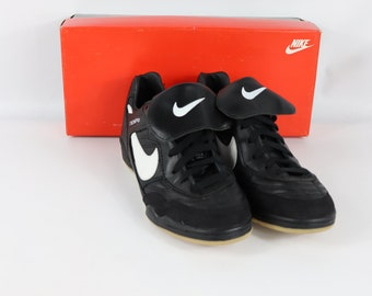f54b6bb3594b 90s New Nike Tiempo Classic Trainers Indoor Soccer Shoes Trainers Black  Mens , 90s Nike, 90s Nike Shoes, 90s Nike Soccer, 90s Soccer, Nike
