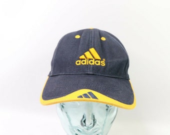 fe8ef823 90s Adidas Spell Out 3 Stripes Adjustable Cotton Dad Hat Cap Navy Blue, 90s  Adidas Strapback Dad Hat, 90s Adidas Spell Out Hat, 90s Dad Hat