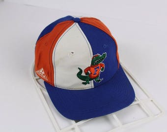 4e5e0284c92 90s Apex One Florida Gators Spell Out Color Block Snapback Hat