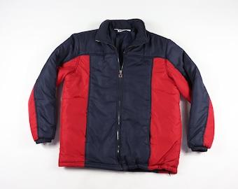 3f589afcd06e 90s Fila Mens Medium Spell Out Color Block Full Zip Puffer Jacket Red, Vintage  Fila Jacket, Fila Puffer Jacket, 90s Color Block Jacket,